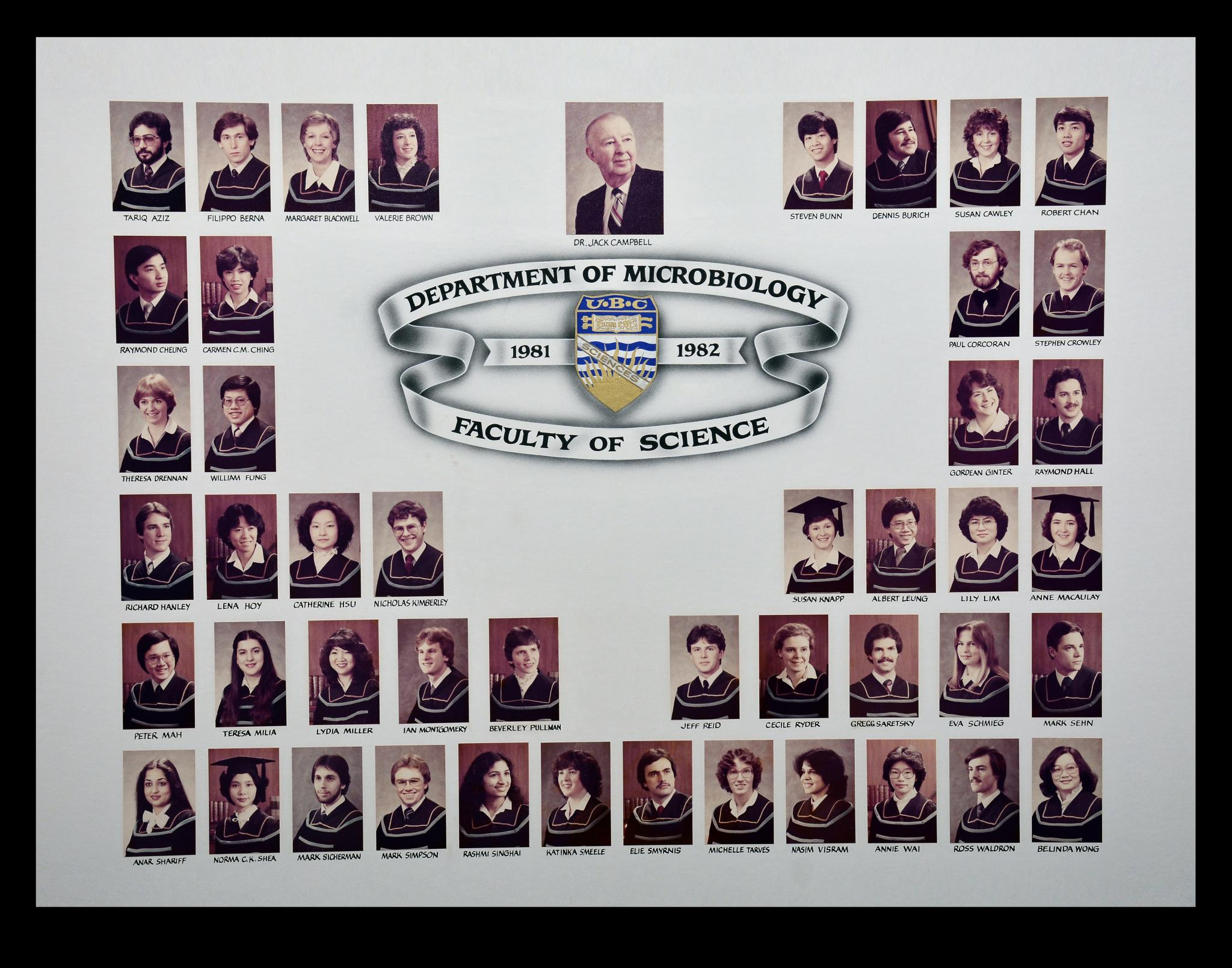 Graduating Class of 1981-1982