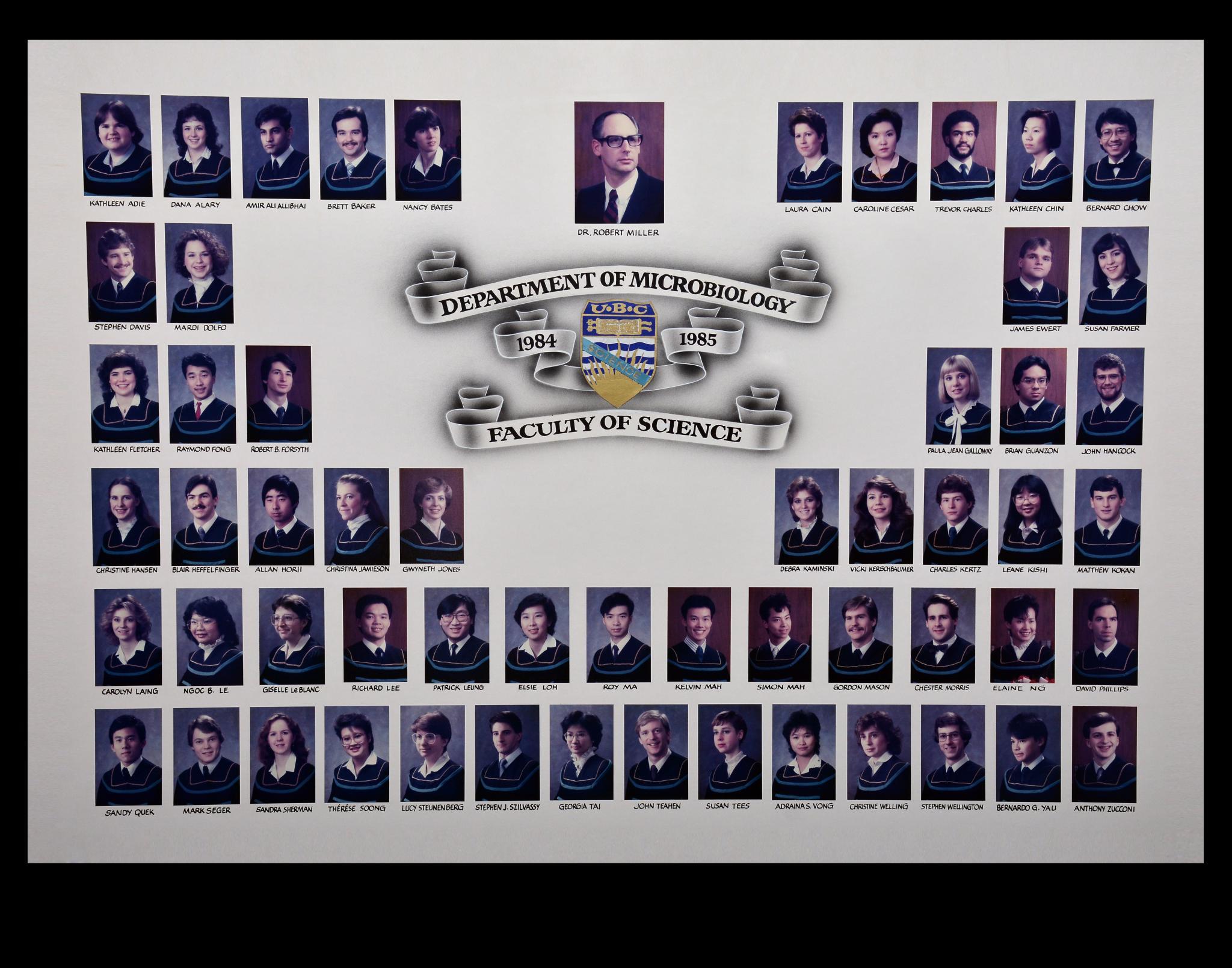 Graduating Class of 1984-1985